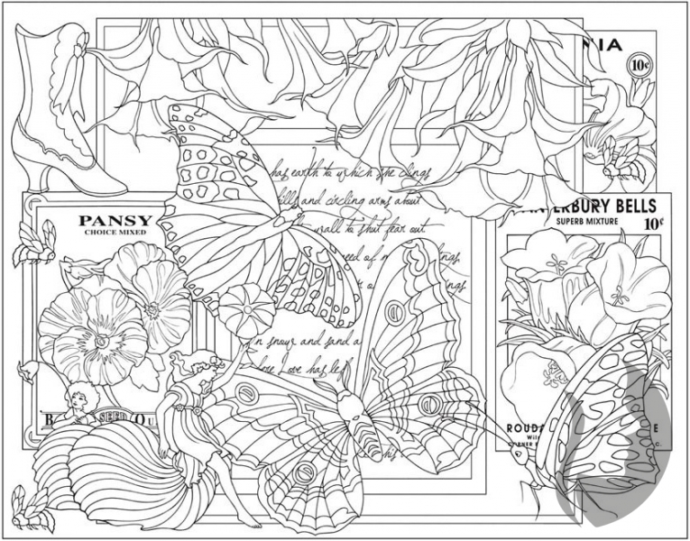 Fine Art Coloring Pages. Excellent Drawn Weed Coloring Page With ...