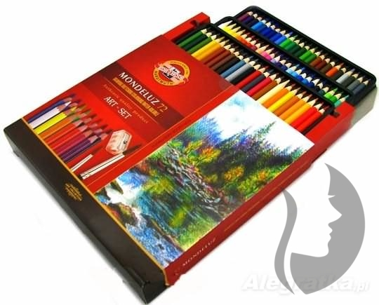 Akvarelove Pastelky Koh I Noor Mondeluz 72 Ks Papir